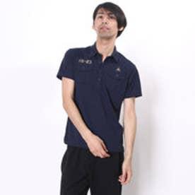 ルコックスポルティフ le coq sportif ゴルフシャツ 半袖シヤツ(ニツト) QG2973 (ネイビー)