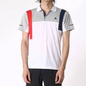 ルコックスポルティフ le coq sportif メンズ テニス 半袖ポロシャツ 衿付き半袖ポロシャツ QT-710163 (ホワイト)