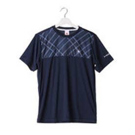 ルコックスポルティフ le coq sportif メンズ テニス 半袖Tシャツ 半袖シャツ QT-010463 (ネイビー)