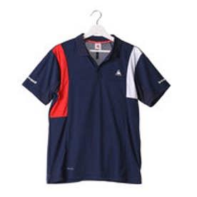 ルコックスポルティフ le coq sportif メンズ テニス 半袖ポロシャツ 衿付き半袖ポロシャツ QT-710163 (ネイビー)