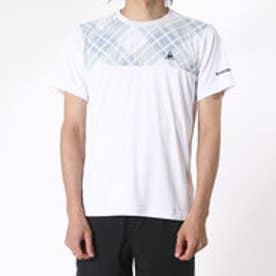 ルコックスポルティフ le coq sportif メンズ テニス 半袖Tシャツ 半袖シャツ QT-010463 (ホワイト)