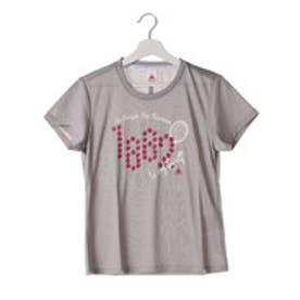 ルコックスポルティフ le coq sportif レディース テニス 半袖Tシャツ ルーズ半袖シャツ QT-015363 (グレー)
