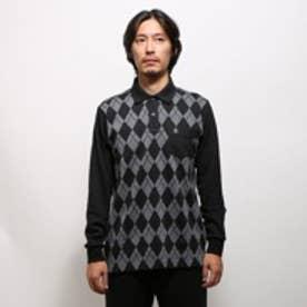 マンシングウェア Munsingwear ゴルフシャツ ナガソデシヤツ(ニツト) SG1319 (ブラック)