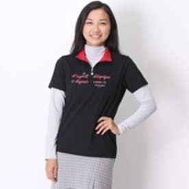 マリ クレール marie claire ゴルフシャツ 長袖 735-500 ブラック (ブラック)