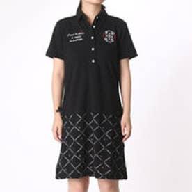 マリ クレール marie claire レディース ゴルフ 半袖ワンピース 716400      (ブラック)
