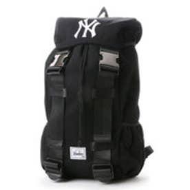 メジャーリーグベースボール MAJOR LEAGUE BASEBALL デイパック ヤンキーススウェットフラップリュック YK-MBBK72  (ブラック)