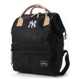 メジャーリーグベースボール MAJOR LEAGUE BASEBALL デイパック ヤンキースコーデュラ口金リュック YK-MBBK75  (ブラック)