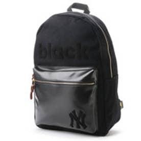 メジャーリーグベースボール MAJOR LEAGUE BASEBALL デイパック ヤンキースキャンバス×PUさがらデイパック YK-MBBK49  (ブラック)