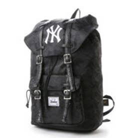 メジャーリーグベースボール MAJOR LEAGUE BASEBALL デイパック ヤンキース織りカモフラップリュック YK-MBBK46  (ブラック)