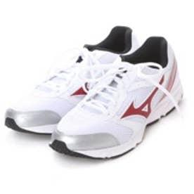 ミズノ MIZUNO ランニングシューズ MAXIMIZER 18 K1GA160261 ホワイト 3458 (ホワイト/レッド)