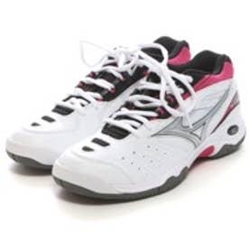 ミズノ MIZUNO テニスシューズ(オムニクレーコート用) Wセンセション OC ホワイト