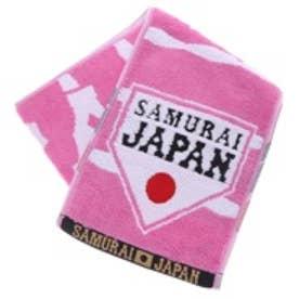 ミズノ MIZUNO 侍ジャパンマフラータオル 侍ピンクコレクションマフラータオル 12JY5X8364  (ピンク×サムライネイビー)