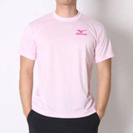 ミズノ MIZUNO テニスTシャツ バックロゴTシャツ 62JA6Z0160 ピンク  (ライトピンク×Fピンク)