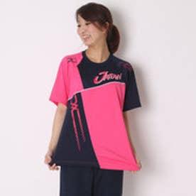 ミズノ MIZUNO ユニセックスTシャツ 半袖Tシャツ 62JA6X8164 ピンク  (ピンク)