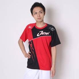 ミズノ MIZUNO ユニセックスTシャツ 半袖Tシャツ 62JA6X8162 レッド  (レッド)