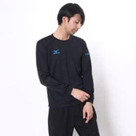 ミズノ MIZUNO バレーボールプラクティスシャツ NCナガソデプラクティスシャツ V2MA649292  (ブタック×ターコイズ)