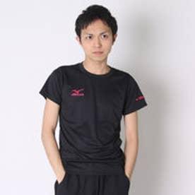ミズノ MIZUNO バレーボールプラクティスシャツ NCハンソデプラクティスシャツ V2MA640297  (ブラック×マゼンダ)