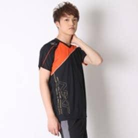 ミズノ MIZUNO バレーボールプラクティスシャツ プラクティスシャツ V2JA608395  (ブラック×フレイムオレンジ)