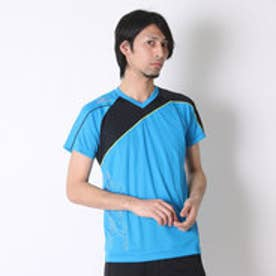 ミズノ MIZUNO バレーボールプラクティスシャツ プラクティスシャツ V2JA608324  (ディーバブルー×ブラック)
