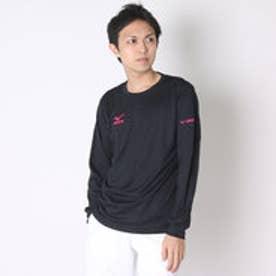 ミズノ MIZUNO バレーボールプラクティスシャツ NCナガソデプラクティスシャツ V2MA649297  (ブラック×マゼンダ)