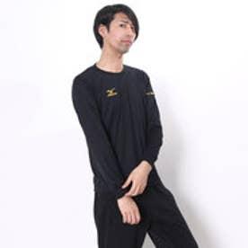 ミズノ MIZUNO バレーボールプラクティスシャツ NCナガソデプラクティスシャツ V2MA649295  (ブラック×ゴールド)