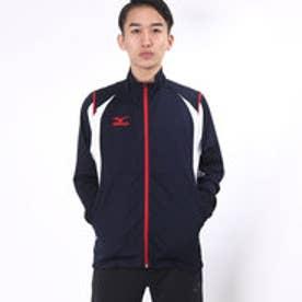 ミズノ MIZUNO ユニセックス 長袖ジャージジャケット ウォームアップシャツ(SMU) 32JC652114 (Dネイビー×ホワイト)