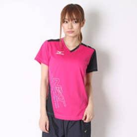 ミズノ MIZUNO バレーボールプラクティスシャツ プラクティスシャツ V2JA628264  (ベリーピンク×ブラック)