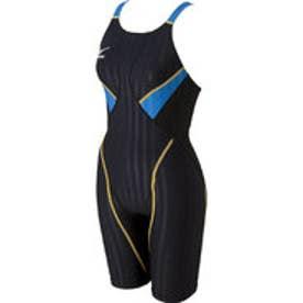 ミズノ MIZUNO 競泳スーツ  MZ N2MG6223AL R  (ブラック×ターコイズブルー)