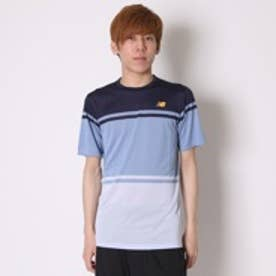 ニューバランス new balance テニスTシャツ トーナメントショートスリーブTシャツ MT61404 ネイビー  (アビエータ?×インパルス)