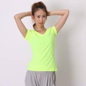 ナイキ NIKE スポーツインナー ウィメンズ DON'T GIVE UP Tシャツ 688585 グリーン (イエローグリーン)