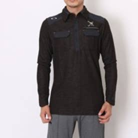 オークリー OAKLEY ゴルフシャツ Skull Woolen L/S Shirt 2.0 433484JP (ブラック)