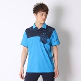 オークリー OAKLEY ゴルフシャツ Bark Leaf Geo Block Polo 433629JP ブルー (Pacific Blue)