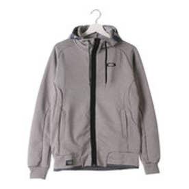 オークリー OAKLEY メンズ スウェットフルジップ Enhance Technical Fleece Jacket.Grid 1.7 461488JP (グレー)
