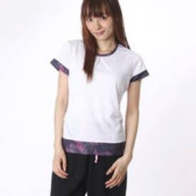 プリンス Prince レディース テニス 半袖Tシャツ ゲームシャツ WL6084  (ホワイト)