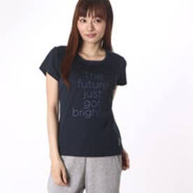 プリンス Prince レディース テニス 半袖Tシャツ Tシャツ WL6085  (ネイビー)