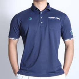 パラディーゾ PARADISO ゴルフシャツ 16SS PDメンズハンシャツ DSM35A (ライトネイビー)