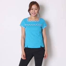 パラディーゾ PARADISO テニスウェア レディス半袖ゲームシャツ DCL03A ブルー  (ターコイズ)