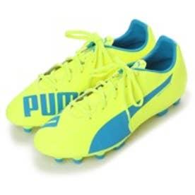プーマ PUMA ジュニアサッカースパイク エヴォスピード 5.4 HG JR evoSPEED 103292 2785 (セーフティ イエロー×アトミック ブルー)