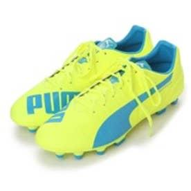 プーマ PUMA サッカースパイク エウ゛ォスピード 4.4 HG 103271 3202 (セーフティ イエロー×アトミック ブルー)