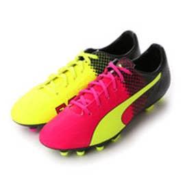 プーマ PUMA サッカースパイク エウ゛ォスピード 4.5 トリックス HG 103600 3206 (ピンク グロー×セーフティ イエロー)