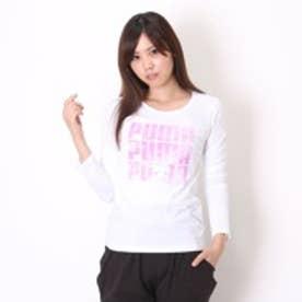 プーマ PUMA Tシャツ LS TEE W AP 2 839641 ホワイト (ホワイト)
