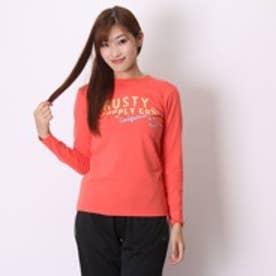ラスティー RUSTY Tシャツ レディースL/S 955082-A レッド (コーラル)