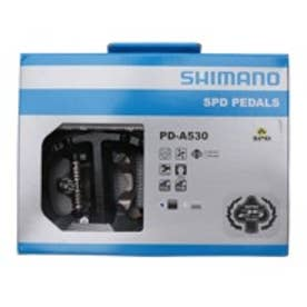シマノセールス SHIMANO ペダル PD-A530 ブラックタイプ:SPD カラー:ブラック クリート付:有り リフレクター付:無し EPDA530L ブラック (ブラック)