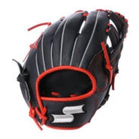 エスエスケイ SSK ジュニア軟式グローブ(右投げ) Special Make Glove SMJG6103  (ブラック×Rオレンジ)