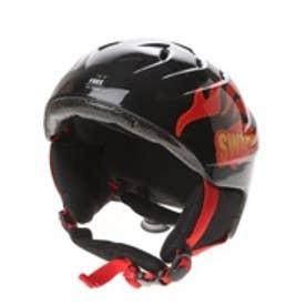 スワンズ SWANS ジュニアヘルメット H-41170 (ブラック×レッド)