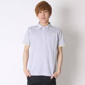 テーラーメイド TaylorMade ゴルフシャツ S/S メランジボーダーシャツ CCK07 (ネイビー)