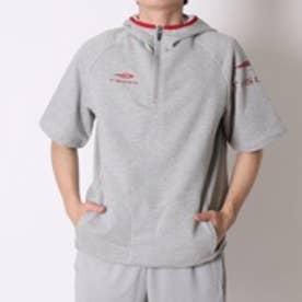 ティゴラ TIGORA 野球半袖ウィンドシャツ  TR-8BW1716TJスウ (グレー×レッド)