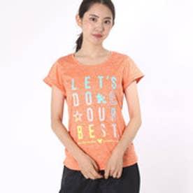 ティゴラ TIGORA レディース フィットネス 半袖Tシャツ スリムTシャツ TR-3F2116MK (オレンジ)