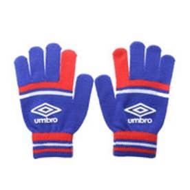 アンブロ UMBRO ジュニア サッカー/フットサル 手袋 JRマジックニットグローブ UJA8605J (ブルー×レッド)