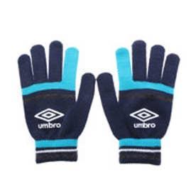アンブロ UMBRO ユニセックス サッカー/フットサル 手袋 マジックニットグローブ UJA8605 (ネイビー×ブルーグレー)